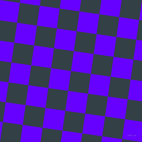82/172 degree angle diagonal checkered chequered squares checker pattern checkers background, 78 pixel squares size, Big Stone and Electric Indigo checkers chequered checkered squares seamless tileable