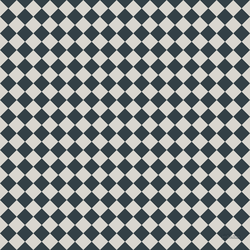 45/135 degree angle diagonal checkered chequered squares checker pattern checkers background, 23 pixel squares size, , Big Stone and Timberwolf checkers chequered checkered squares seamless tileable