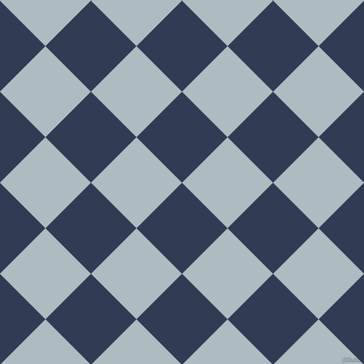 45/135 degree angle diagonal checkered chequered squares checker pattern checkers background, 127 pixel squares size, , Biscay and Heather checkers chequered checkered squares seamless tileable