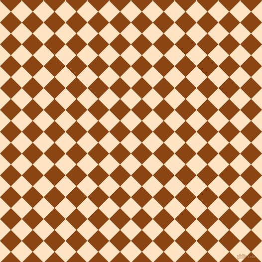 45/135 degree angle diagonal checkered chequered squares checker pattern checkers background, 31 pixel squares size, , Bisque and Saddle Brown checkers chequered checkered squares seamless tileable