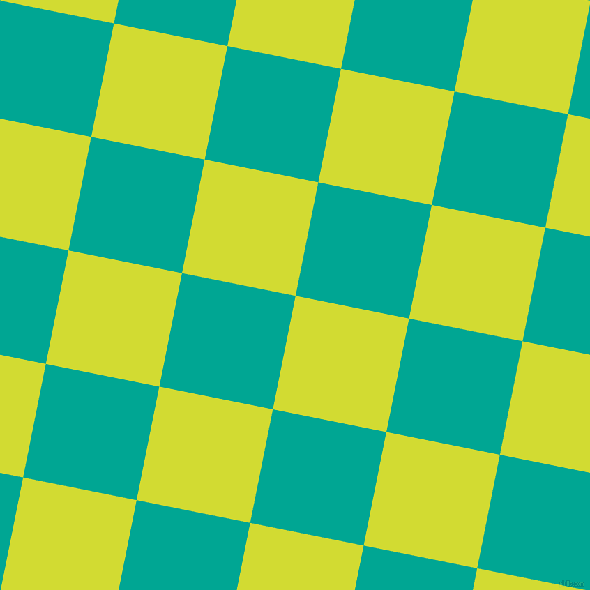 79/169 degree angle diagonal checkered chequered squares checker pattern checkers background, 166 pixel squares size, , Bitter Lemon and Persian Green checkers chequered checkered squares seamless tileable