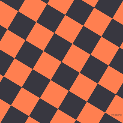 59/149 degree angle diagonal checkered chequered squares checker pattern checkers background, 70 pixel squares size, , Black Marlin and Coral checkers chequered checkered squares seamless tileable