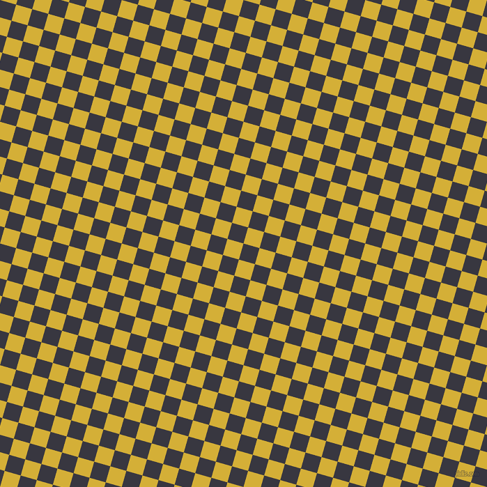 74/164 degree angle diagonal checkered chequered squares checker pattern checkers background, 24 pixel squares size, , Black Marlin and Metallic Gold checkers chequered checkered squares seamless tileable