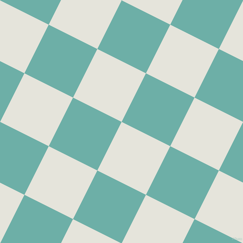 63/153 degree angle diagonal checkered chequered squares checker pattern checkers background, 189 pixel squares size, Black White and Tradewind checkers chequered checkered squares seamless tileable