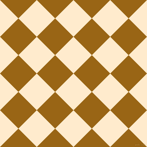 45/135 degree angle diagonal checkered chequered squares checker pattern checkers background, 91 pixel squares size, , Blanched Almond and Golden Brown checkers chequered checkered squares seamless tileable