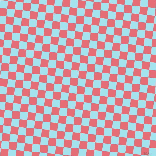 84/174 degree angle diagonal checkered chequered squares checker pattern checkers background, 33 pixel squares size, , Blizzard Blue and Froly checkers chequered checkered squares seamless tileable