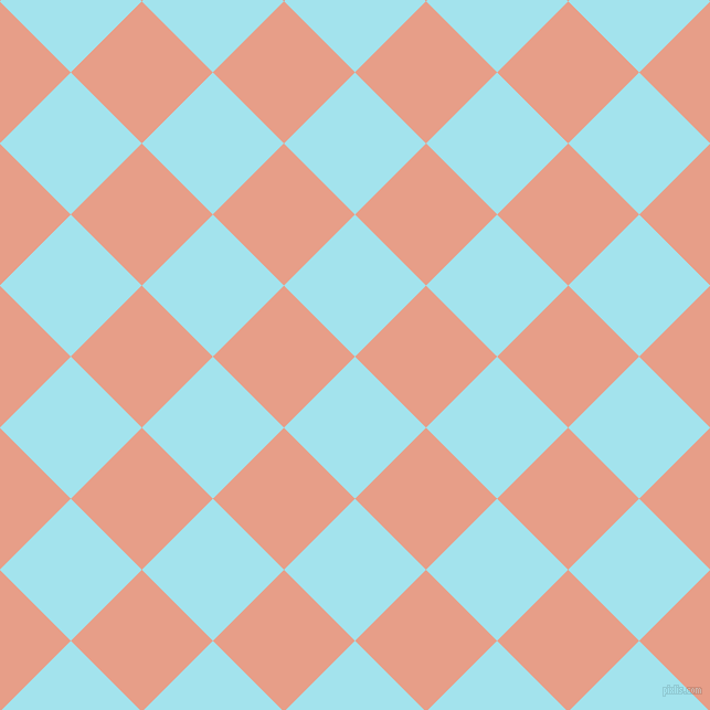 45/135 degree angle diagonal checkered chequered squares checker pattern checkers background, 91 pixel squares size, , Blizzard Blue and Tonys Pink checkers chequered checkered squares seamless tileable