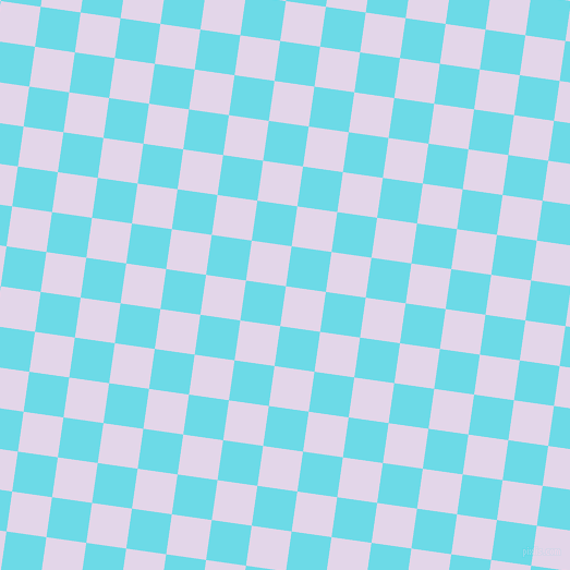 82/172 degree angle diagonal checkered chequered squares checker pattern checkers background, 37 pixel squares size, Blue Chalk and Turquoise Blue checkers chequered checkered squares seamless tileable