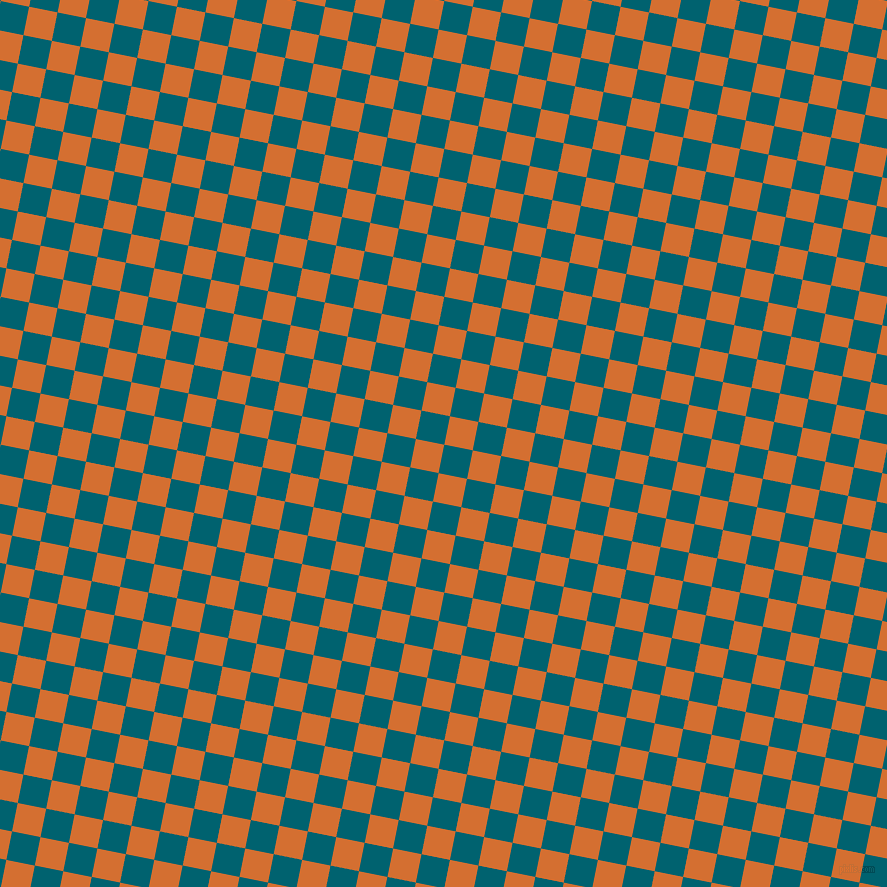 79/169 degree angle diagonal checkered chequered squares checker pattern checkers background, 29 pixel squares size, , Blue Lagoon and Tango checkers chequered checkered squares seamless tileable