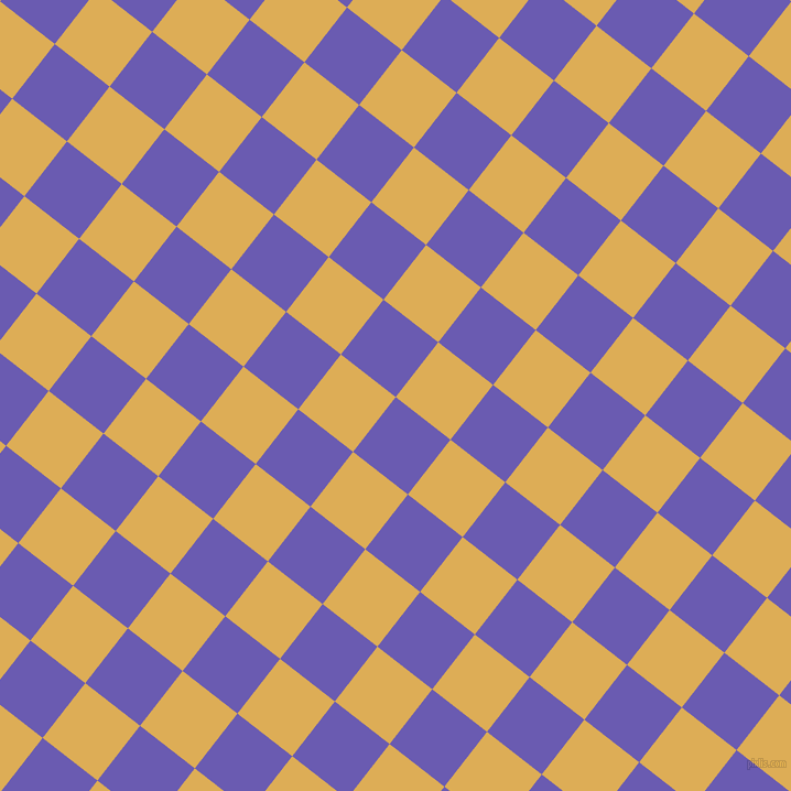 52/142 degree angle diagonal checkered chequered squares checker pattern checkers background, 63 pixel squares size, , Blue Marguerite and Rob Roy checkers chequered checkered squares seamless tileable