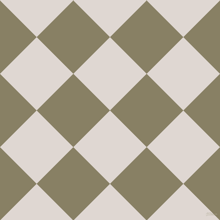45/135 degree angle diagonal checkered chequered squares checker pattern checkers background, 165 pixel square size, , Bon Jour and Olive Haze checkers chequered checkered squares seamless tileable