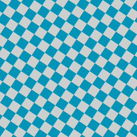56/146 degree angle diagonal checkered chequered squares checker pattern checkers background, 40 pixel squares size, , Bondi Blue and Geyser checkers chequered checkered squares seamless tileable