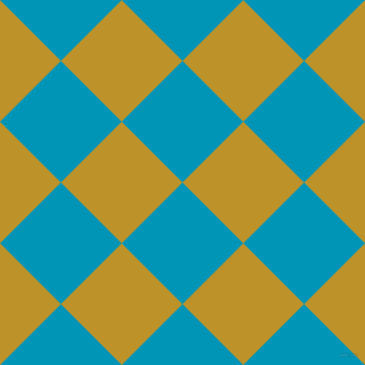 45/135 degree angle diagonal checkered chequered squares checker pattern checkers background, 172 pixel squares size, , Bondi Blue and Nugget checkers chequered checkered squares seamless tileable
