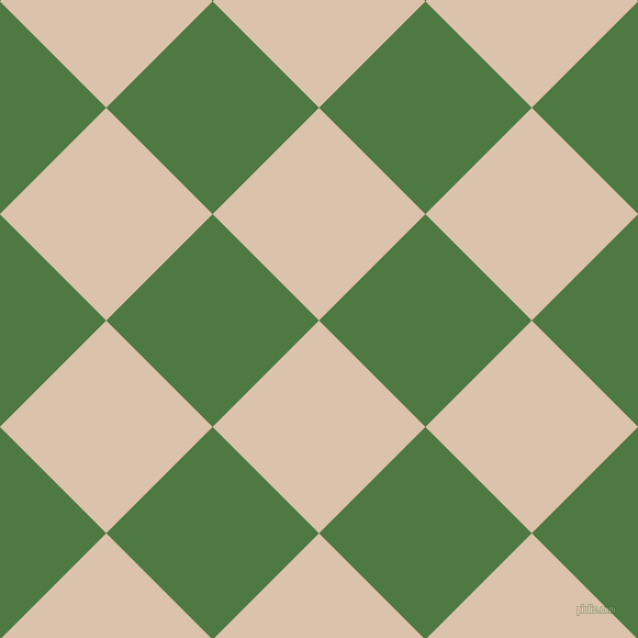 45/135 degree angle diagonal checkered chequered squares checker pattern checkers background, 137 pixel squares size, , Bone and Fern Green checkers chequered checkered squares seamless tileable