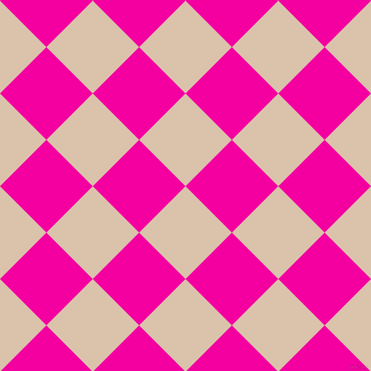 45/135 degree angle diagonal checkered chequered squares checker pattern checkers background, 128 pixel square size, , Bone and Hollywood Cerise checkers chequered checkered squares seamless tileable