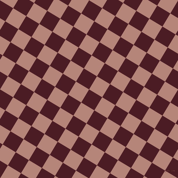 59/149 degree angle diagonal checkered chequered squares checker pattern checkers background, 52 pixel square size, , Bordeaux and Brandy Rose checkers chequered checkered squares seamless tileable