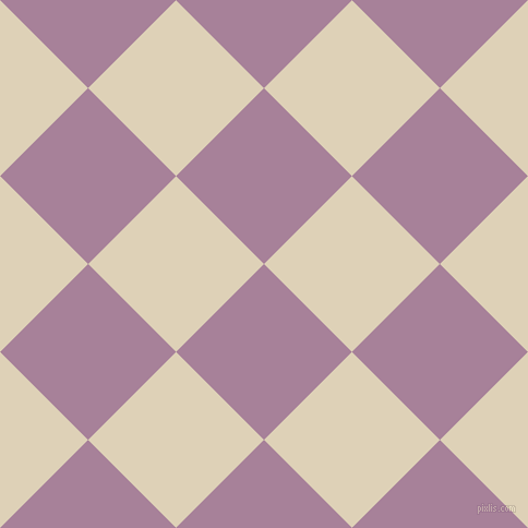 45/135 degree angle diagonal checkered chequered squares checker pattern checkers background, 114 pixel squares size, , Bouquet and Spanish White checkers chequered checkered squares seamless tileable