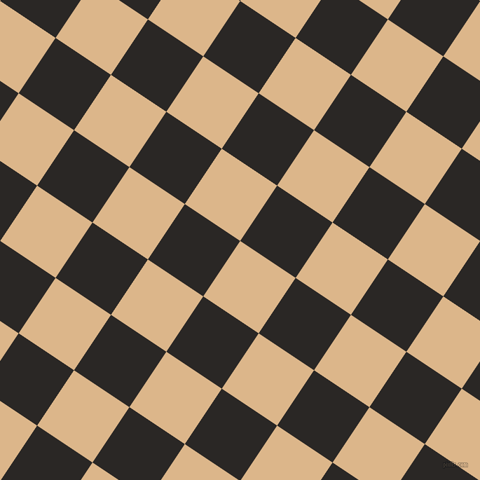 56/146 degree angle diagonal checkered chequered squares checker pattern checkers background, 95 pixel square size, , Brandy and Bokara Grey checkers chequered checkered squares seamless tileable