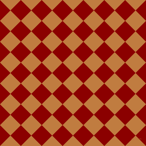 45/135 degree angle diagonal checkered chequered squares checker pattern checkers background, 51 pixel squares size, , Brandy Punch and Dark Red checkers chequered checkered squares seamless tileable