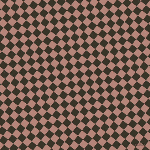52/142 degree angle diagonal checkered chequered squares checker pattern checkers background, 21 pixel square size, , Brandy Rose and Graphite checkers chequered checkered squares seamless tileable