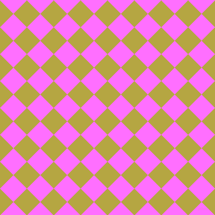 45/135 degree angle diagonal checkered chequered squares checker pattern checkers background, 64 pixel squares size, , Brass and Ultra Pink checkers chequered checkered squares seamless tileable