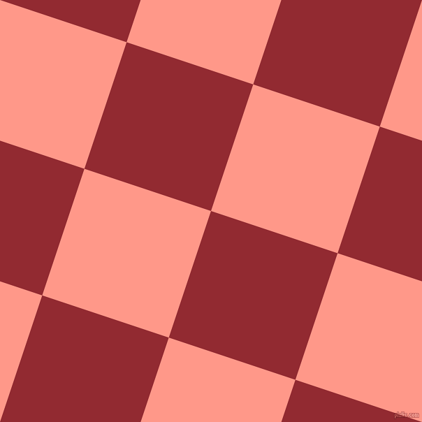 72/162 degree angle diagonal checkered chequered squares checker pattern checkers background, 191 pixel square size, , Bright Red and Mona Lisa checkers chequered checkered squares seamless tileable