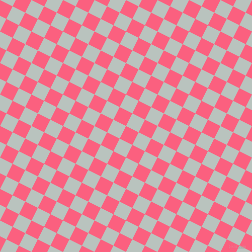 63/153 degree angle diagonal checkered chequered squares checker pattern checkers background, 28 pixel square size, Brink Pink and Tiara checkers chequered checkered squares seamless tileable