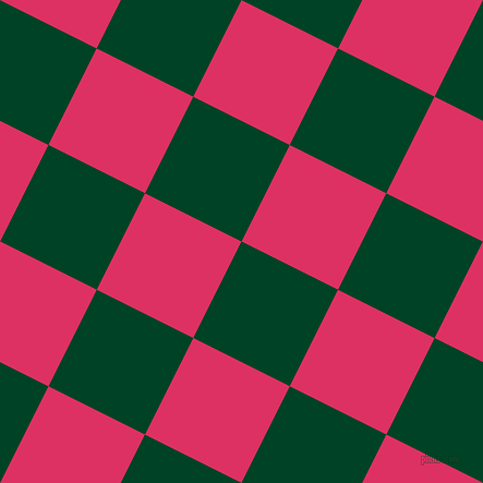 63/153 degree angle diagonal checkered chequered squares checker pattern checkers background, 99 pixel square size, , British Racing Green and Cerise checkers chequered checkered squares seamless tileable