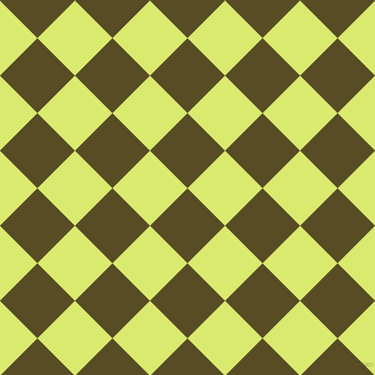 45/135 degree angle diagonal checkered chequered squares checker pattern checkers background, 105 pixel squares size, , Bronze Olive and Mindaro checkers chequered checkered squares seamless tileable