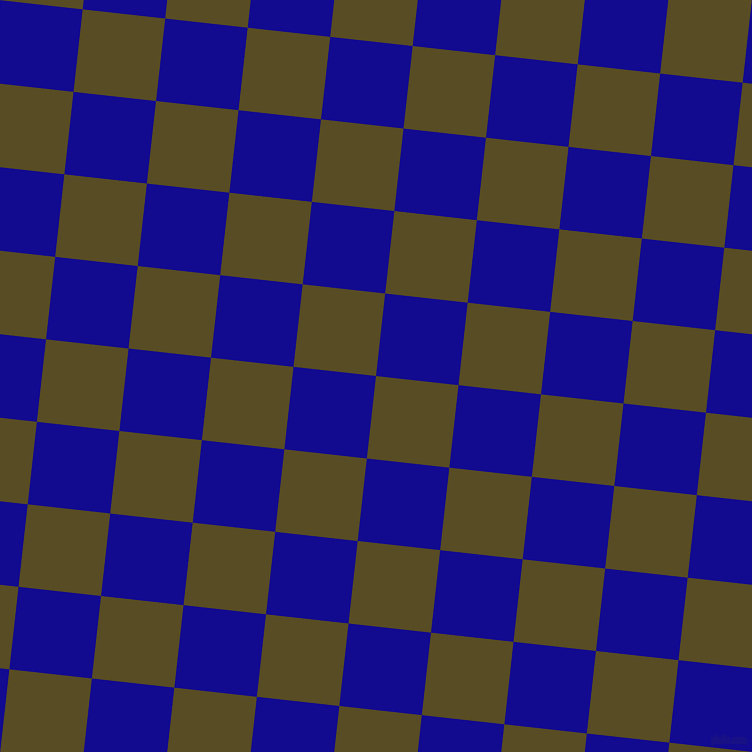 84/174 degree angle diagonal checkered chequered squares checker pattern checkers background, 83 pixel square size, , Bronze Olive and Ultramarine checkers chequered checkered squares seamless tileable
