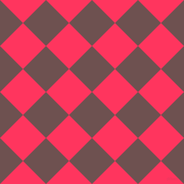 45/135 degree angle diagonal checkered chequered squares checker pattern checkers background, 108 pixel square size, Buccaneer and Radical Red checkers chequered checkered squares seamless tileable