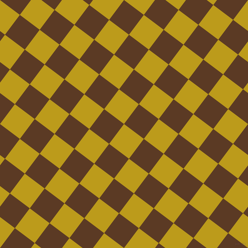 53/143 degree angle diagonal checkered chequered squares checker pattern checkers background, 85 pixel squares size, Buddha Gold and Carnaby Tan checkers chequered checkered squares seamless tileable