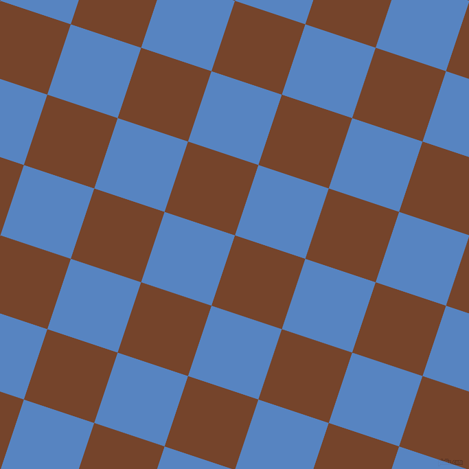 72/162 degree angle diagonal checkered chequered squares checker pattern checkers background, 108 pixel square size, , Bull Shot and Havelock Blue checkers chequered checkered squares seamless tileable