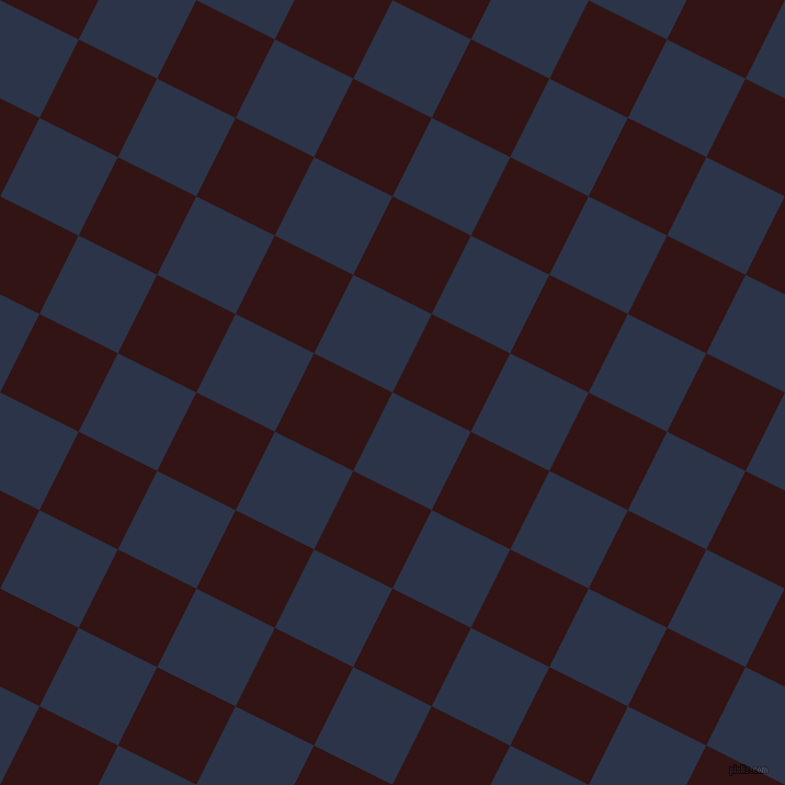 63/153 degree angle diagonal checkered chequered squares checker pattern checkers background, 80 pixel square size, Bunting and Seal Brown checkers chequered checkered squares seamless tileable