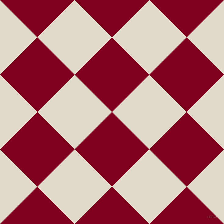 45/135 degree angle diagonal checkered chequered squares checker pattern checkers background, 173 pixel squares size, , Burgundy and Albescent White checkers chequered checkered squares seamless tileable