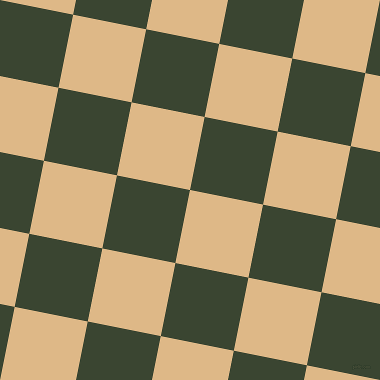 79/169 degree angle diagonal checkered chequered squares checker pattern checkers background, 149 pixel square size, , Burly Wood and Mallard checkers chequered checkered squares seamless tileable