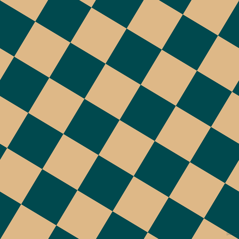 59/149 degree angle diagonal checkered chequered squares checker pattern checkers background, 136 pixel square size, , Burly Wood and Sherpa Blue checkers chequered checkered squares seamless tileable