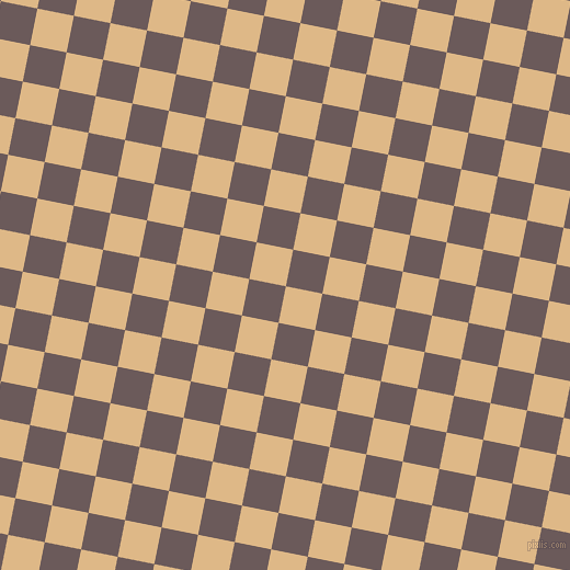 79/169 degree angle diagonal checkered chequered squares checker pattern checkers background, 34 pixel squares size, , Burly Wood and Zambezi checkers chequered checkered squares seamless tileable