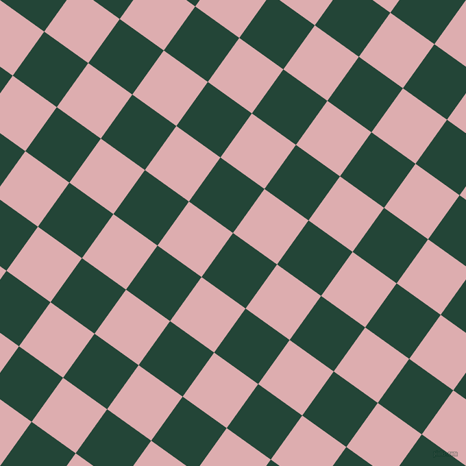 54/144 degree angle diagonal checkered chequered squares checker pattern checkers background, 79 pixel square size, , Burnham and Pale Chestnut checkers chequered checkered squares seamless tileable