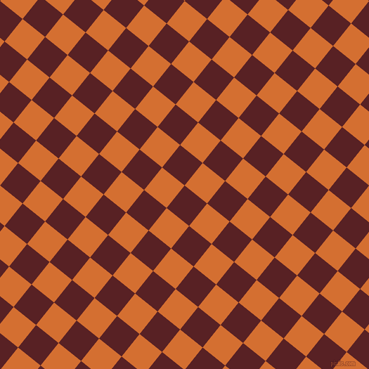 51/141 degree angle diagonal checkered chequered squares checker pattern checkers background, 41 pixel square size, , Burnt Crimson and Tango checkers chequered checkered squares seamless tileable