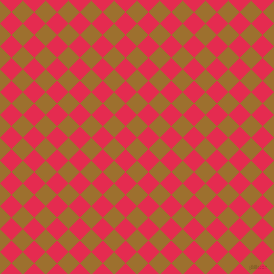 45/135 degree angle diagonal checkered chequered squares checker pattern checkers background, 33 pixel squares size, , Buttered Rum and Amaranth checkers chequered checkered squares seamless tileable