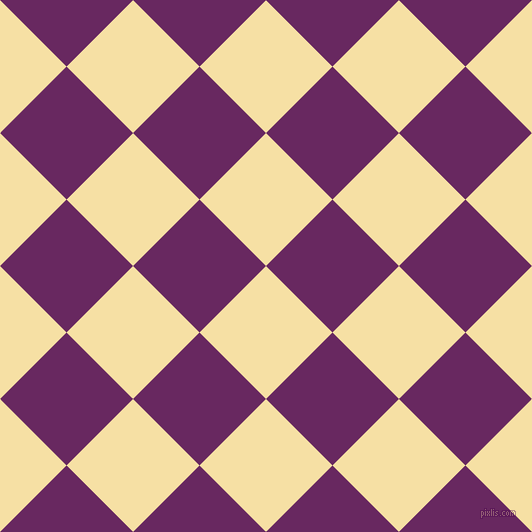 45/135 degree angle diagonal checkered chequered squares checker pattern checkers background, 94 pixel square size, , Buttermilk and Palatinate Purple checkers chequered checkered squares seamless tileable