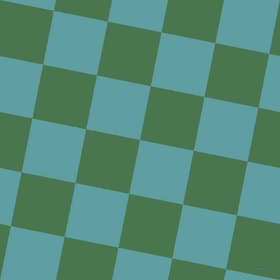 79/169 degree angle diagonal checkered chequered squares checker pattern checkers background, 107 pixel square size, , Cadet Blue and Killarney checkers chequered checkered squares seamless tileable