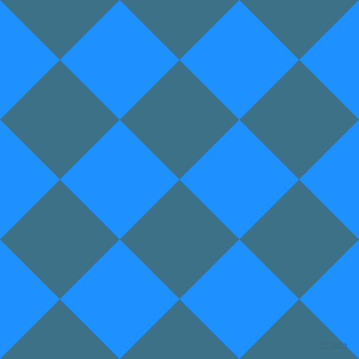 45/135 degree angle diagonal checkered chequered squares checker pattern checkers background, 119 pixel square size, , Calypso and Dodger Blue checkers chequered checkered squares seamless tileable