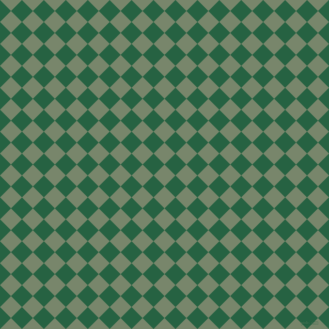 45/135 degree angle diagonal checkered chequered squares checker pattern checkers background, 32 pixel squares size, Camouflage Green and Green Pea checkers chequered checkered squares seamless tileable