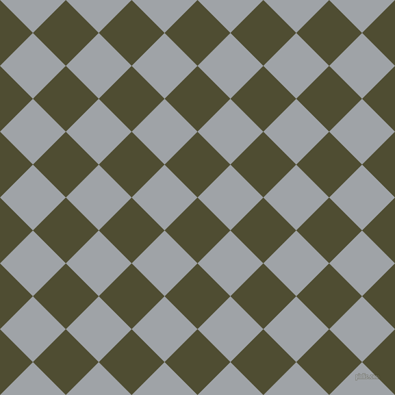 45/135 degree angle diagonal checkered chequered squares checker pattern checkers background, 68 pixel square size, , Camouflage and Grey Chateau checkers chequered checkered squares seamless tileable