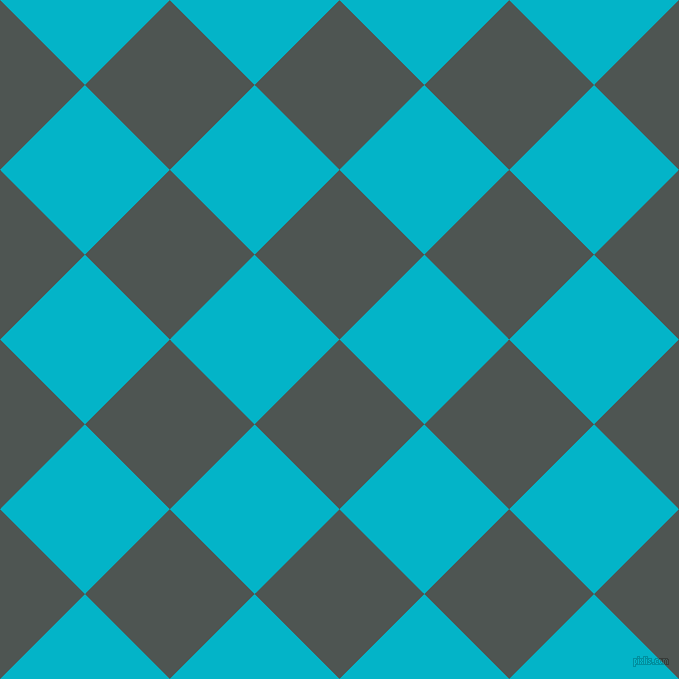 45/135 degree angle diagonal checkered chequered squares checker pattern checkers background, 120 pixel square size, Cape Cod and Iris Blue checkers chequered checkered squares seamless tileable