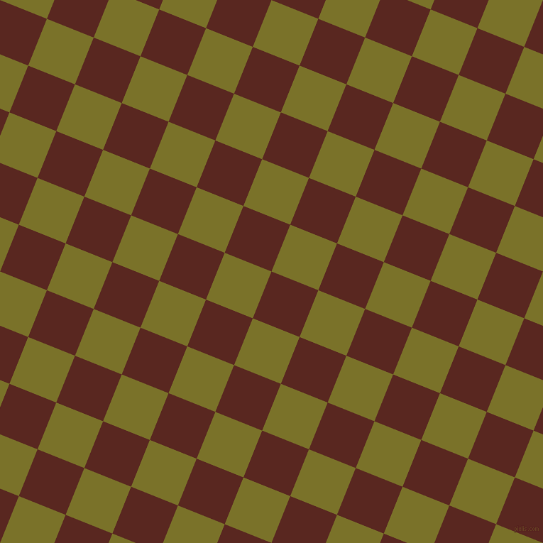 68/158 degree angle diagonal checkered chequered squares checker pattern checkers background, 71 pixel squares size, , Caput Mortuum and Pesto checkers chequered checkered squares seamless tileable