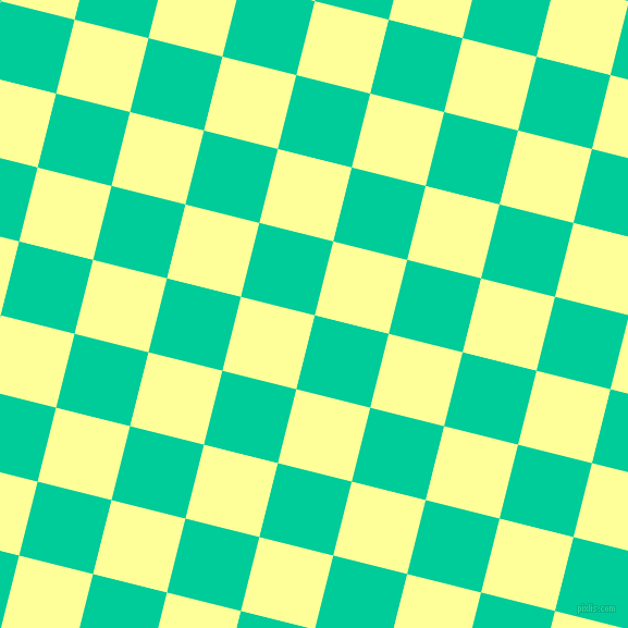 76/166 degree angle diagonal checkered chequered squares checker pattern checkers background, 70 pixel square size, , Caribbean Green and Canary checkers chequered checkered squares seamless tileable