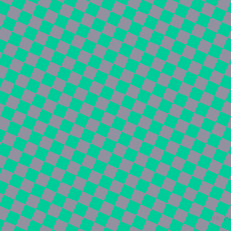 66/156 degree angle diagonal checkered chequered squares checker pattern checkers background, 23 pixel square size, , Caribbean Green and Grey Suit checkers chequered checkered squares seamless tileable